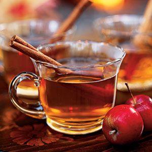 Spiced Cider:   5 cups apple cider  1 (3-inch) cinnamon stick  1 whole clove  1 (1/2-inch-thick) orange slice  1 (1/2-inch-thick) lemon slice  1/2 cup brandy  6 (3-inch) cinnamon sticks (optional)