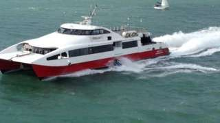 Man on water scooter ploughs into ferry off Southampton