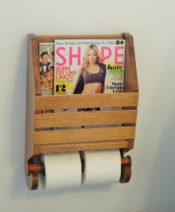 Hey, I found this really awesome Etsy listing at https://www.etsy.com/listing/225208384/toilet-paper-holder-with-magazine