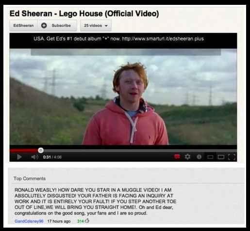 Ed Sheeran Ron Weasley