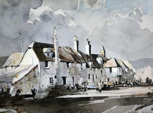 Corfe Village, Dorset by Rowland Hilder