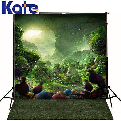 Green scenery backdrop Dreamlike for children Fairy tale