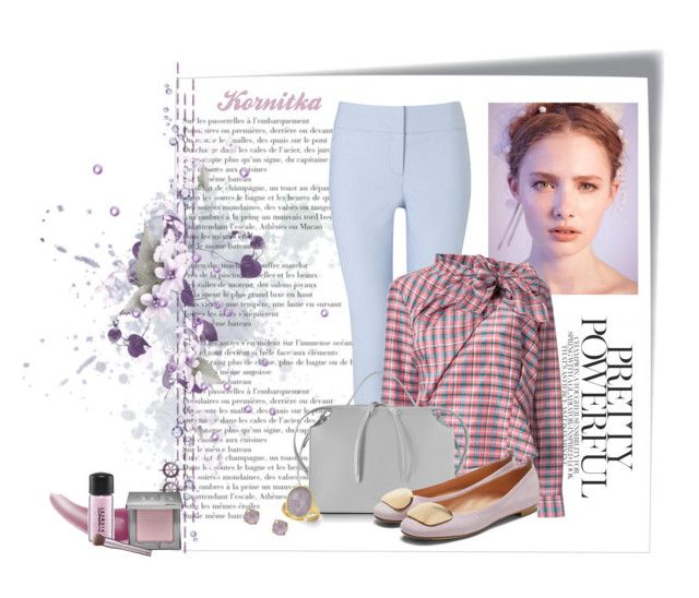 """""""nr 224 / pastels"""" by kornitka ❤ liked on Polyvore featuring Phase Eight, Isabel Marant, Jil Sander, Rupert Sanderson, John & Pearl, Marco Bicego, Bare Escentuals, MAC Cosmetics and Urban Decay"""
