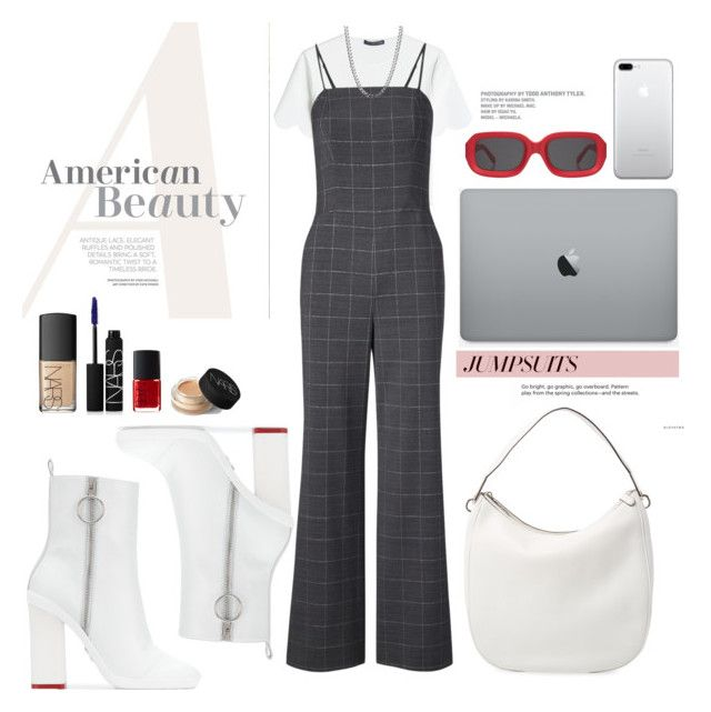 """""""22.02.18"""" by caglatersak ❤ liked on Polyvore featuring Off-White, Alexander McQueen, Marc Jacobs, NARS Cosmetics, jumpsuits, polyvorecontest and polyvoreset"""