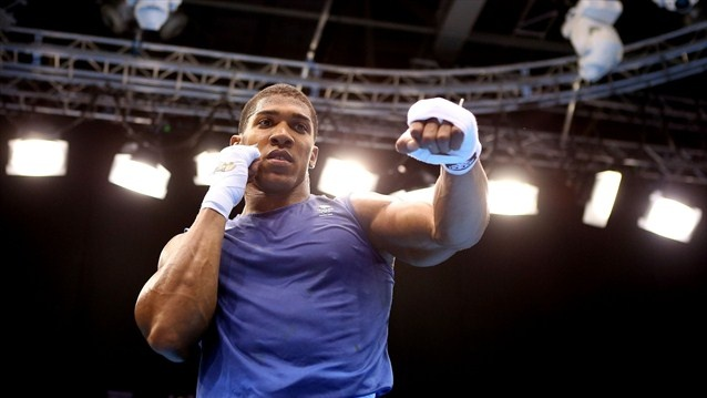 Anthony Joshua of Great Britain. Anthony Joshua (15/10/1989) won gold in the men's Super Heavy Weight division on Day 16 at London 2012.  (sun aug 12, 2012)