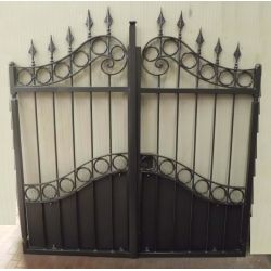 Wrought Iron Pedestrian Gate. Customize Realisations. 083