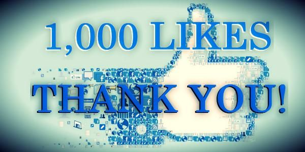 thanks for 1000 likes on facebook - Google Search