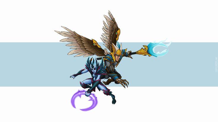 Stunning skywrath mage vengeful spirit dota 2 72 HD Anime Wallpaper « Kuff Games