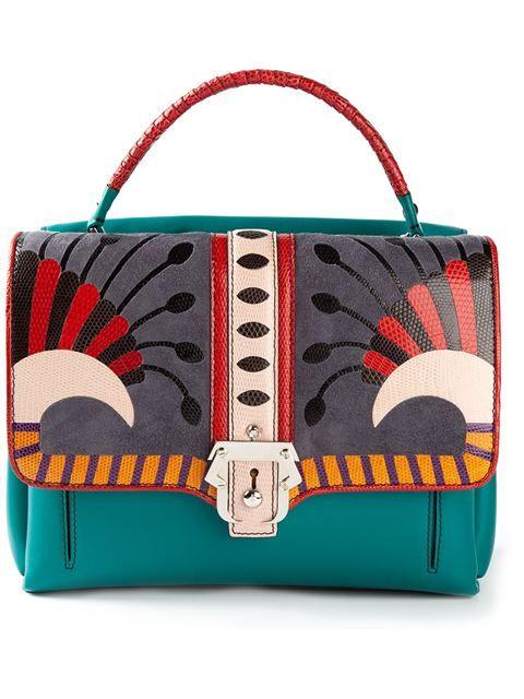 Multicolour Leather Petite 'faye' Tote | Paula Cademartori