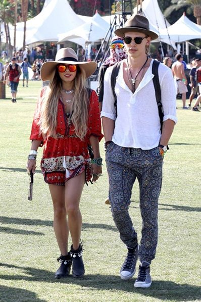 Vanessa Hudgens and Austin Butler nail festival style at this year