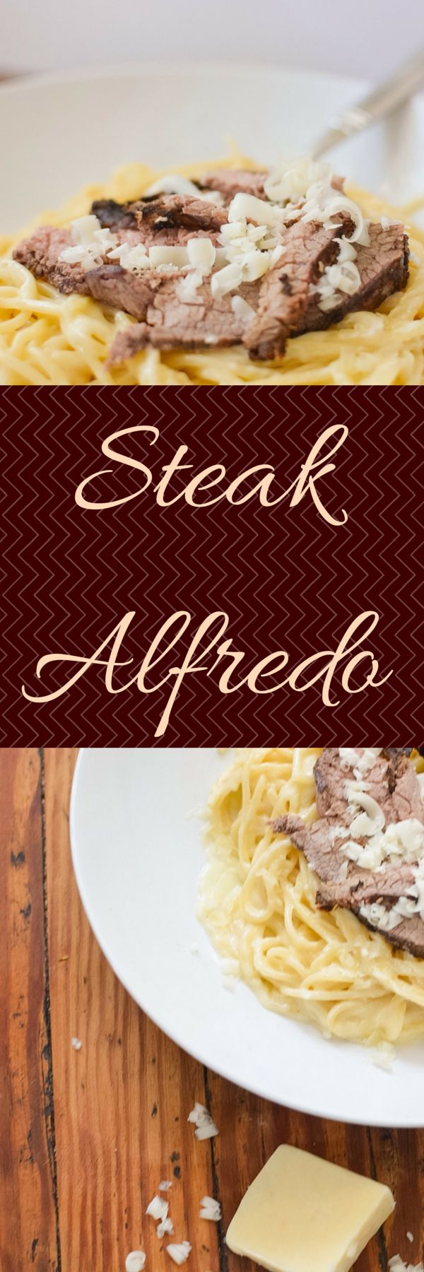 A creamy and decadent Steak Alfredo pasta for any special occasion or just Saturday date night.