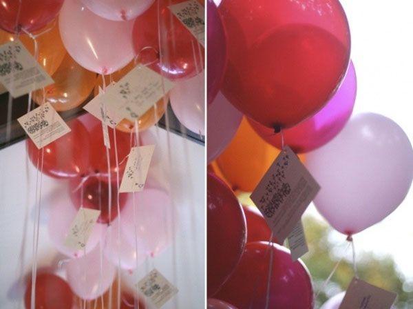lacher de ballons avec carte - Lacher De Ballon Lumineux Mariage