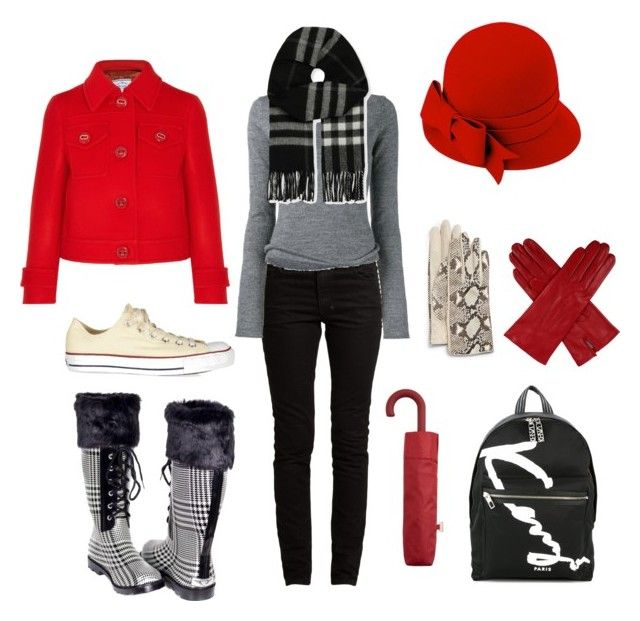 in-vierno by loulou-luna on Polyvore featuring moda, Acne Studios, Prada, Valentino, Forever, Converse, Kenzo, Burberry, JB Guanti and Dents