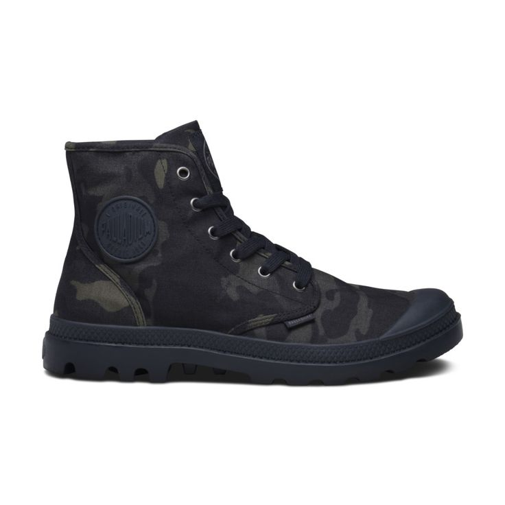 Palladium Boots Pampa Hi in MultiCam Black