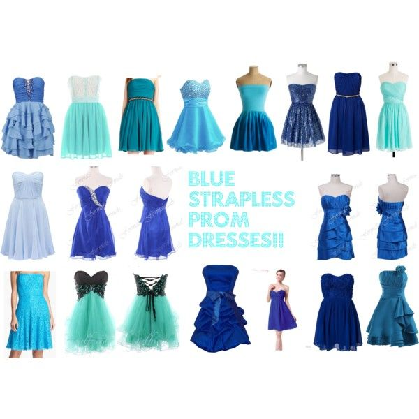 Blue dresses for prom!!