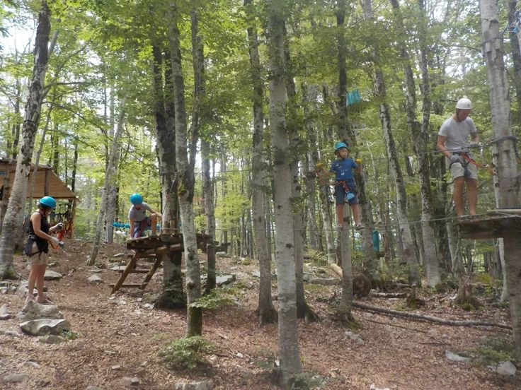 High ropes course has levels for all ages on the Active Family Montenegro Holiday.