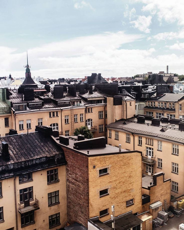 Helsinki rooftops  gosh I walked 500 miles. I'm dead!