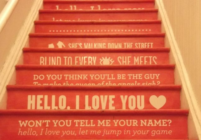 hello i love you stairs opening ceremony