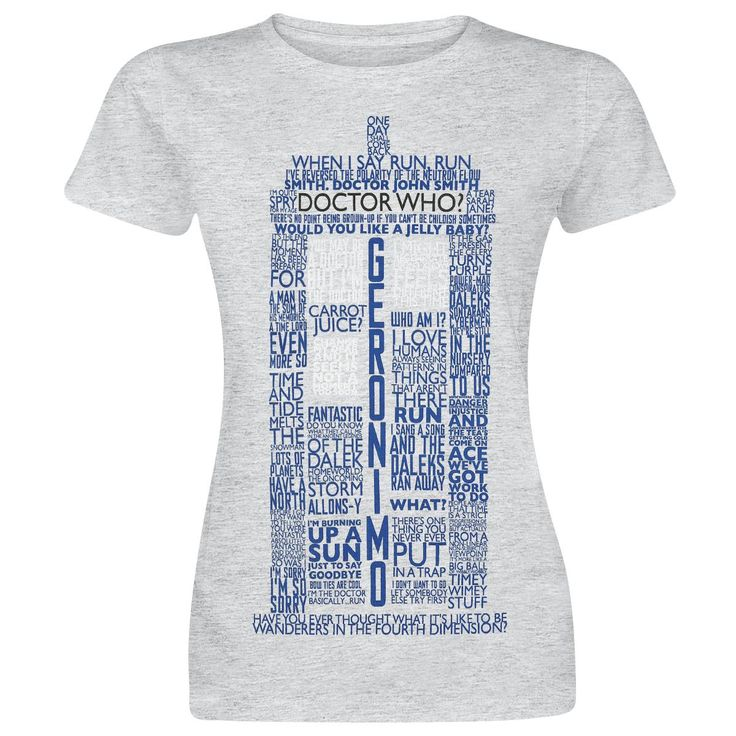 Tardis Quotesx - T-Shirt von Doctor Who