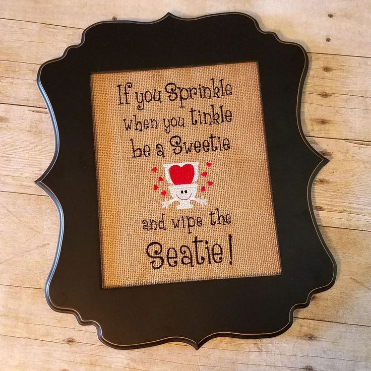 Funny Bathroom Sign ~ If you sprinkle when you tinkle ~ Kids Funny Bathroom Decor, Rustic Bath Decor, Red bathroom decor ~ Boys Bathroom Art