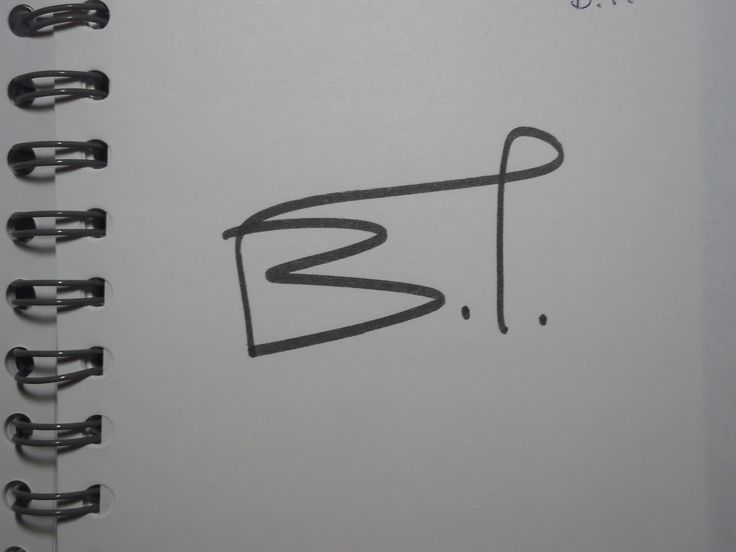 "One-line signature for ""B.I."""