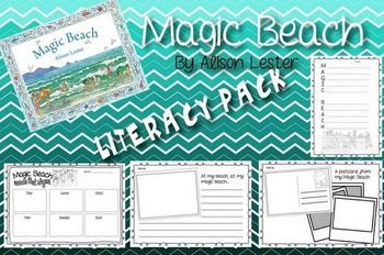 A pack of activities to use with the story book Magic Beach by Alison Lester. Pack includes- Acrostic Poem template (1 with illustrations, 1 without) - Post card writing activity - Words that rhyme activity -Creative writing pageGreat activities to suit a range of different ability levels.