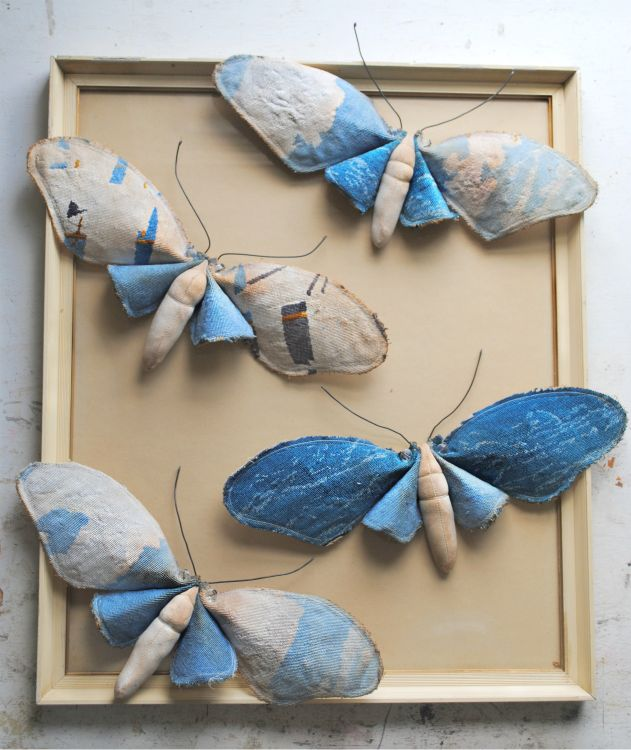 Textile moths by Mister Finch  http://www.etsy.com/shop/MisterFinch