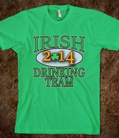 St Patrick S Day Drinking Team Shirts