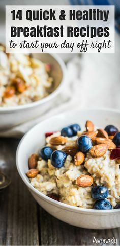 These healthy recipes will help keep you full in the morning and give you the right nutrients for healthy living! These clean eating approved recipes include overnight oats, on the go options, eggs, pancakes, smoothies, vegetarian options and many more! http://avocadu.com/24-quick-and-healthy-breakfast-recipes-you-need-to-try/