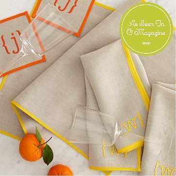 Typographer's Linen Dinner Napkins #makeyourmark