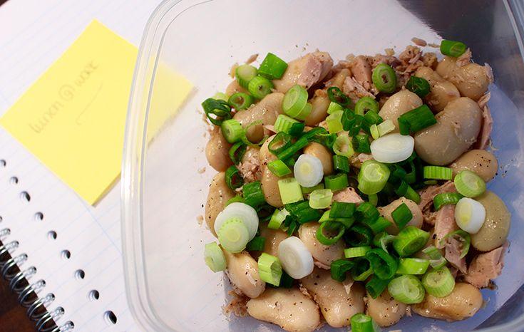 Lunch @ Work – Bonensalade met tonijn (lunch meenemen lactosevrij glutenvrij)