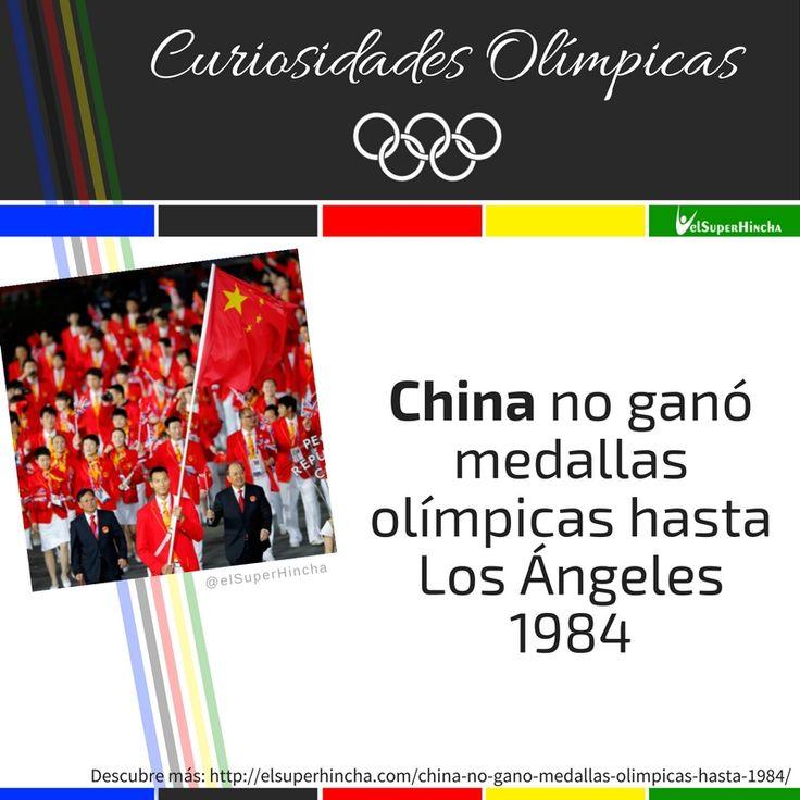 #CuriosidadesOlimpicas #China #JuegosOlimpicos #Rio2016 #JuegosOlimpicosRio2016 #JJOO #Olympics #OlympicMedals #MedallasOlimpicas #SabiasQue