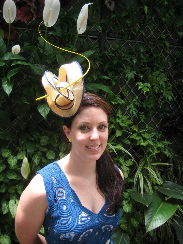 Stunning abstract headpiece by LK Millinery - www.facebook.com/leilakostermillinery