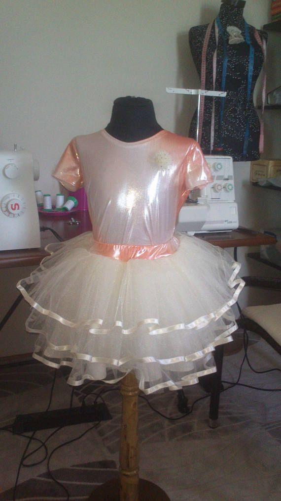 Комплект юбка пачка бежевая фатиновая для девочки 10 лет-140