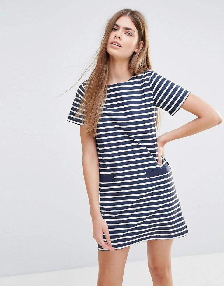 Image 1 of Jack Wills Striped T-Shirt Dress