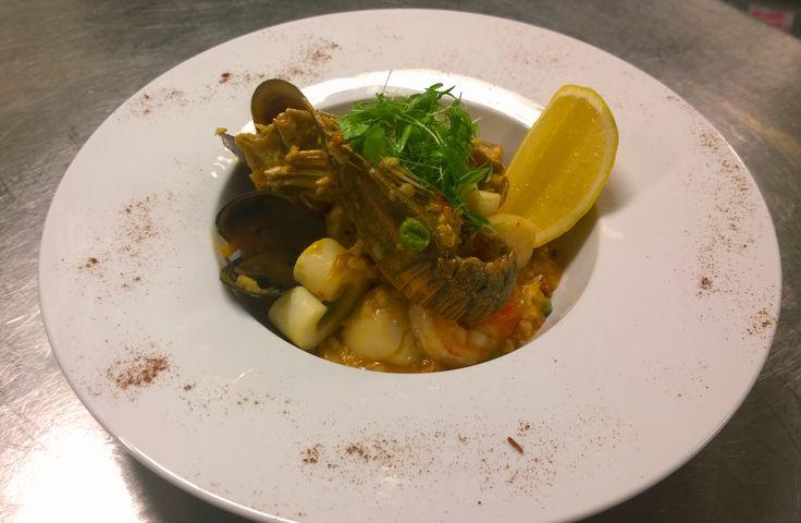 Seafood Paella @ Wild Prawn Cfe, Bar + Grill.