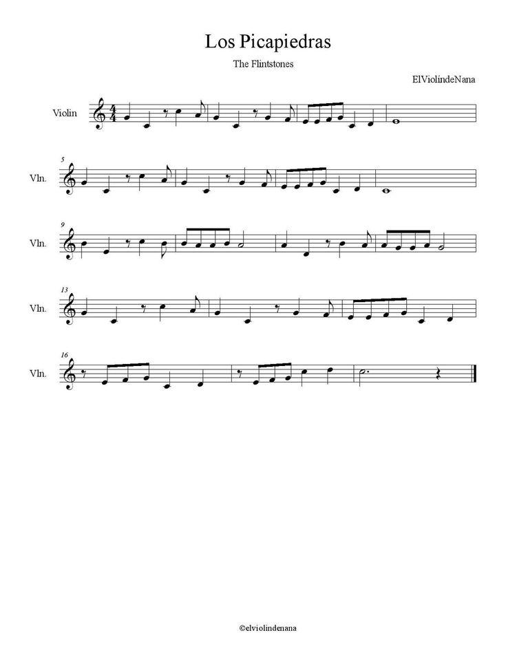 """Aquí tenéis el videotutorial de la canción """"Los Picapiedras"""" (The Flintstones). Como en todos los videos de mi canal """" elviolindenana """" las notas son válidas para instrumentos tocados en clave de sol, como puede ser el violín, la flauta dulce, el piano,..."""