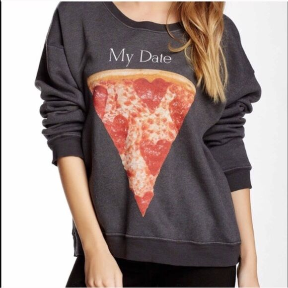 Wildfox pizza  price firm NWTO For the pizza lover in you ❣ Brand new with tags on Wildfox Tops