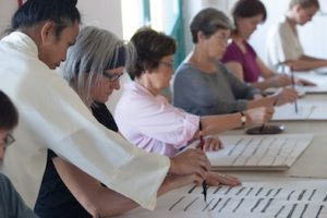 Calligraphy workshop in Moray Art Centre