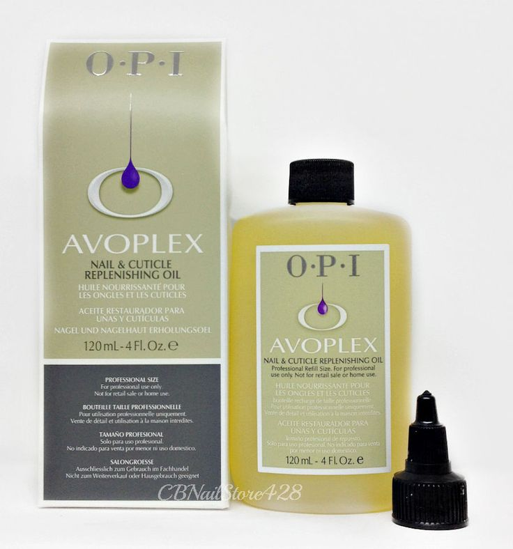 Nail Polish: Opi Avoplex Nail And Cuticle Replenishing Oil 4Oz/120Ml - Professional Size BUY IT NOW ONLY: $41.95