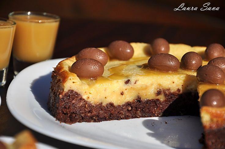 Cheesecake cu ciocolata si lichior de oua, fara gluten