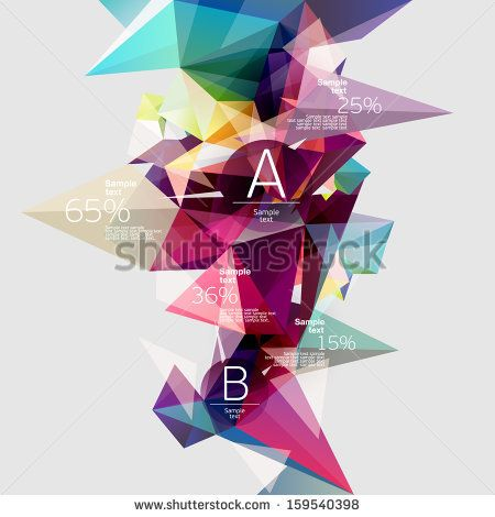 Infographics with  abstract background by theromb, via Shutterstock