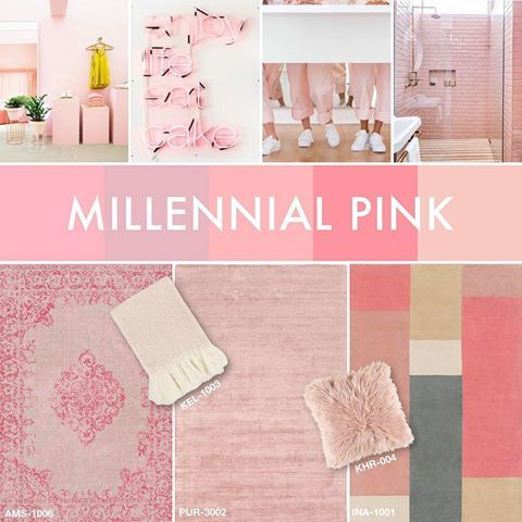 """Even if you didn't know it's name, you have undoubtedly seen this shade of pink grow increasingly popular in fashion and home design trends. Surya has plenty of #MillennialPink accessories to fit any """"coming of age"""" style. #suryacolorstory"""