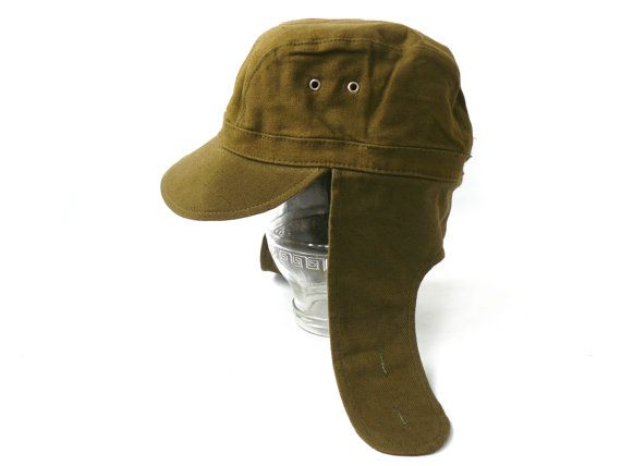 Soviet military cap with earflaps, Field cap, Army cap Soviet hat, Forage cap Military hat 70's Soviet Army, soldier's forage  Casual headgear of Soviet Army soldiers. The ... #etsy #vintage #gift #nostalgishop #accessories #retro #giftforher #forhim