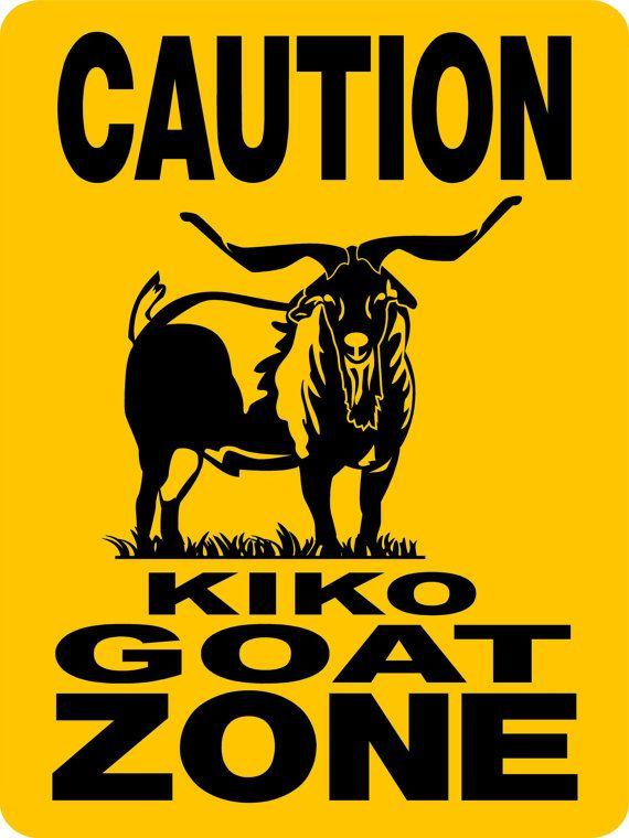 KIKO GOAT Sign 9x12 Aluminum 3199KK by animalzrule on Etsy