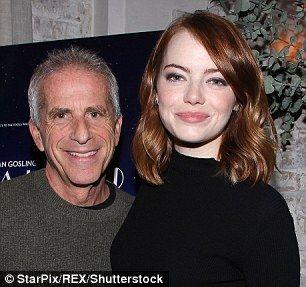 Famous pals:  Emma mingled and posed for the camera alongside actressCelia Weston (L) and film producerMarc Platt