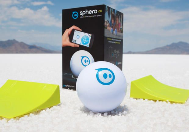 Version 2.0 of the iOS/Android-controlled Sphero rolls twice as fast, glows more brightly — and now comes with ramps for your jumping pleasure. via @CNET