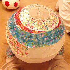 Decopatch lampshade.