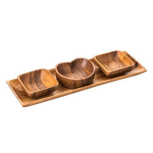 4-tlg. Dipschalen-Set Caraz aus Holz Jetzt bestellen unter: https://moebel.ladendirekt.de/dekoration/aufbewahrung/schalen/?uid=9d7b7983-ccd7-53fb-bf61-4c338a1b3e76&utm_source=pinterest&utm_medium=pin&utm_campaign=boards #platters #aufbewahrung #dishes #dekoration #schalen #serving