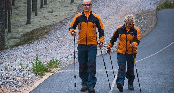 Nordic walking. Activities - Rokua Geopark, Finland. Rokua Health & Spa Hotel.